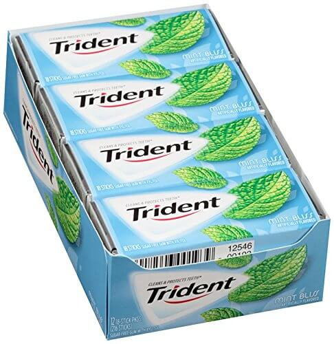 Kẹo cao su Trident Mint Bliss ( Vị bạc hà )
