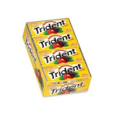 Kẹo cao su Trident Passionberry Twist ( Vị chanh leo và mâm xôi )