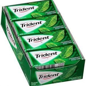 Kẹo cao su Trident Spearmint ( Vị bạc hà )