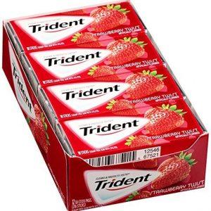 Kẹo cao su Trident Strawberry Twist ( Vị dâu )