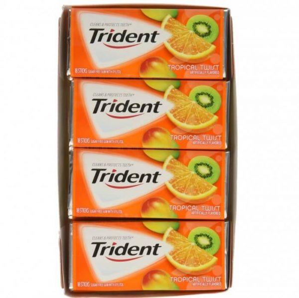 Kẹo cao su Trident Tropical Twist ( Vị hoa quả nhiệt đới )
