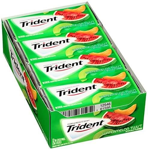 Kẹo cao su Trident Watermelon Twist ( Vị dưa hấu )