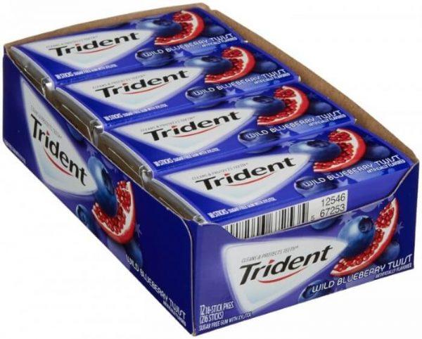 Kẹo cao su Trident Wild Blueberry Twist ( Vị việt quất và lựu )