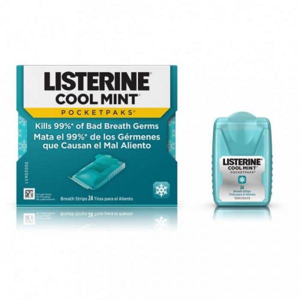 Miếng ngậm thơm miệng Listerine Pocketpaks CoolMint