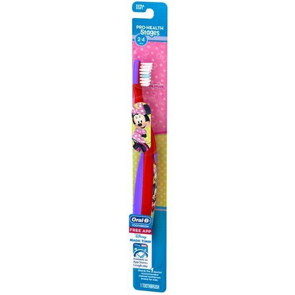 Bàn chải đánh răng Oral-B Minnie Mouse cho bé 2-4 tuổi
