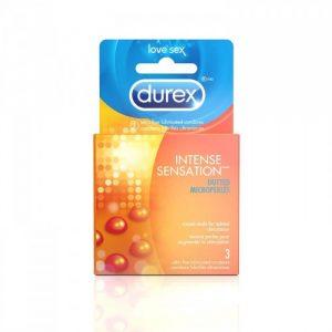 Bao cao su Durex Intense Sensation ( Hộp 3 chiếc ) - Hàng Mỹ