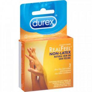 Bao cao su Durex Real Feel ( Hộp 3 chiếc )