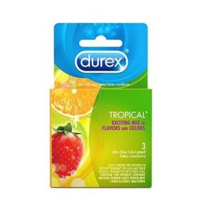 Bao cao su Durex Tropical ( Hộp 3 chiếc ) - Hàng Mỹ