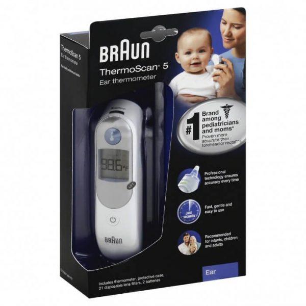 Nhiệt kế điện tử Braun ThermoScan 5 IRT6500 ( đo tai ) - Mỹ 2