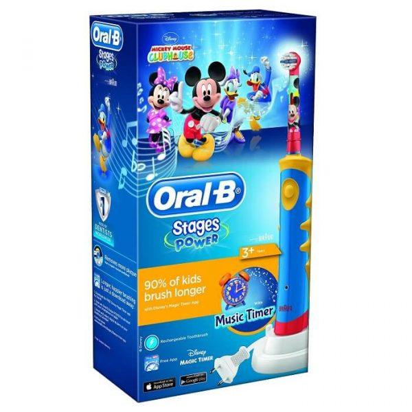 Bàn chải đánh răng điện Oral-B Disney Mickey cho bé 3 tuổi ( có nhạc )