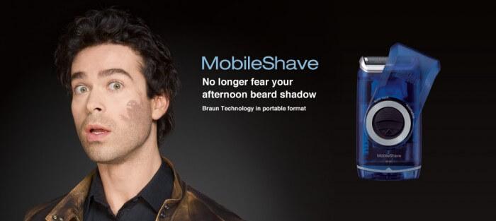 Braun Mobile Shave - Máy cạo râu bỏ túi cao cấp