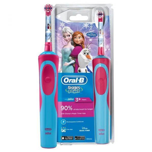 Bàn chải đánh răng điện Oral-B Vitality Frozen cho bé 3 tuổi