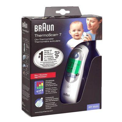 Nhiệt kế điện tử Braun ThermoScan 7 IRT6520 ( đo tai ) 3