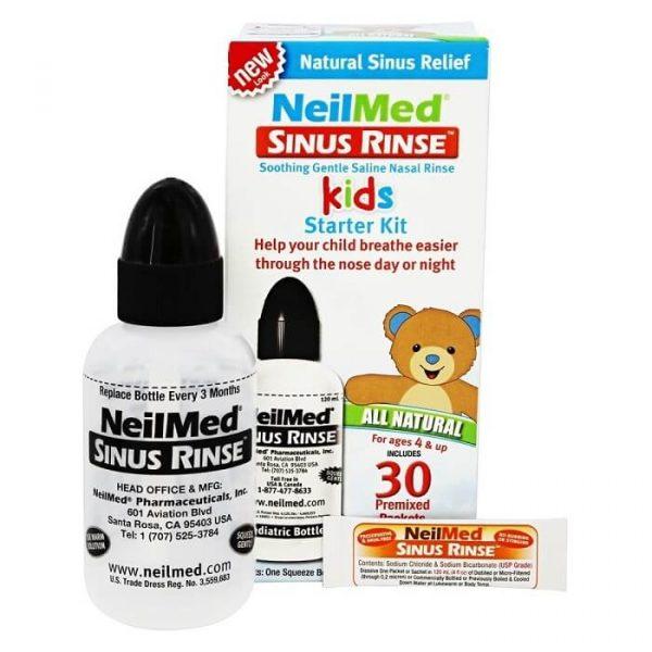 Bình rửa mũi NeilMed Sinus Rinse cho bé ( 30 gói muối )