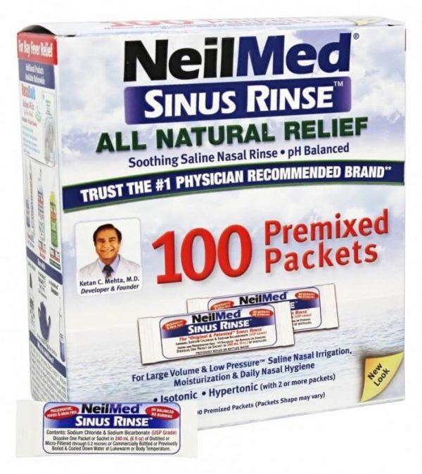 Muối rửa mũi NeilMed Sinus Rinse ( 100 gói )