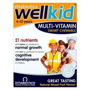 Thuốc bổ sung Multi-Vitamin Vitabiotics Wellkid cho bé ( 30 viên )