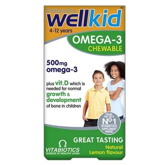 Thuốc bổ sung Omega-3 Vitabiotics Wellkid cho bé ( 60 viên )