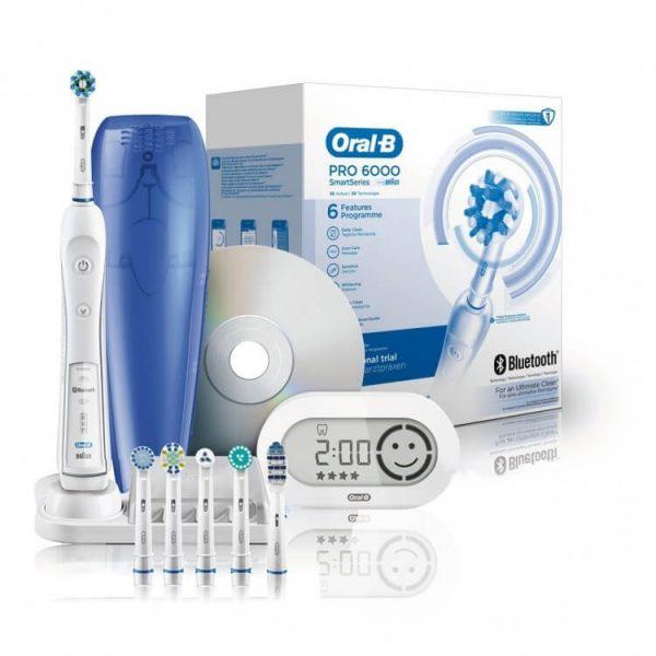 Bàn chải đánh răng điện Oral-B Pro 6000 ( 7 đầu )