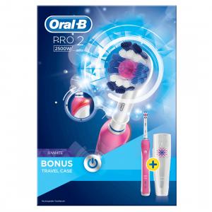 Bàn chải đánh răng điện Oral-B Pro 2 2500W Pink