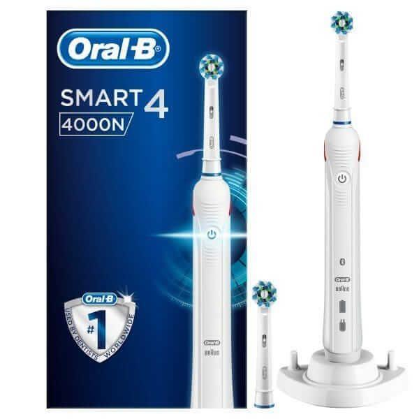 Bàn chải đánh răng điện Oral-B Smart 4 4000N White