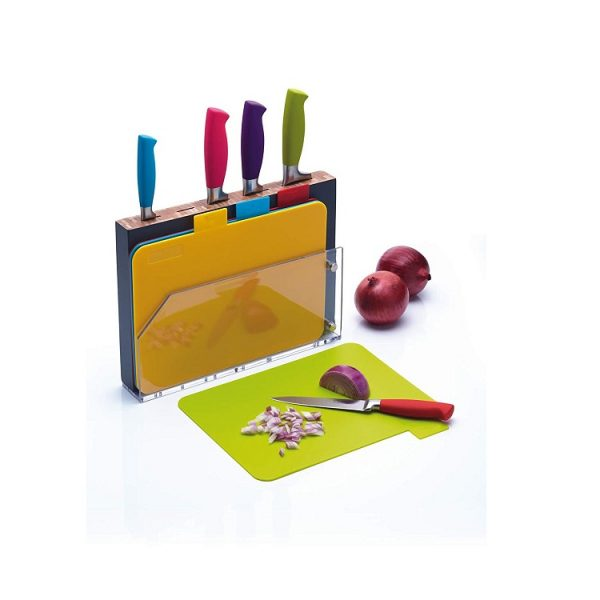 Bộ 5 dao & 4 thớt Kitchen Craft ColourWorks kèm đế cắm