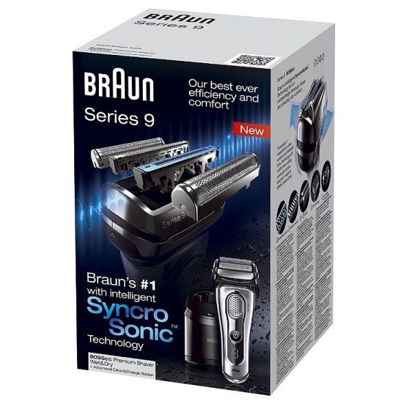 may cao rau braun series 9 9095cc wet dry 4 600x600 - Máy cạo râu Braun Series 9 9095cc Wet & Dry