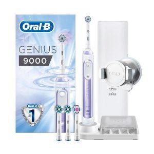ban chai danh rang dien oral b genius 9000 orchid purple 300x300 - Một số lưu ý khi sử dụng bàn chải đánh răng điện cho bé