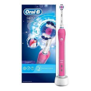 Bàn chải đánh răng điện Oral-B Pro 2 2000W Pink