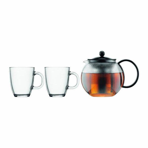 Bộ ấm pha trà kèm 02 cốc uống trà Bodum Assam