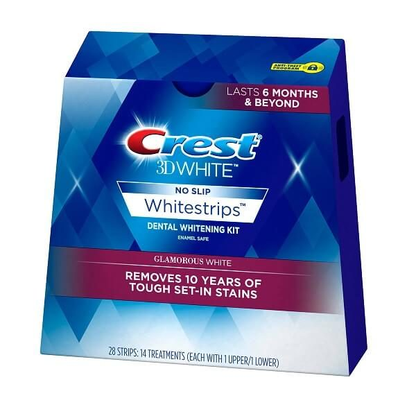 Miếng dán trắng răng Crest 3D White Glamorous 28 miếng