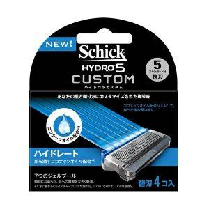 Lưỡi dao cạo râu Schick Hydro 5 Custom 5 lưỡi ( Hộp 4 )