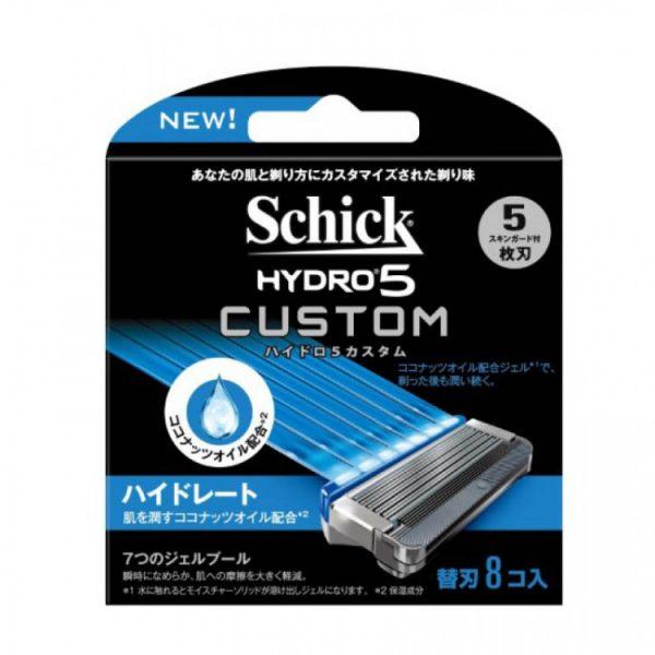 Lưỡi dao cạo râu Schick Hydro 5 Custom 5 lưỡi ( Hộp 8 )