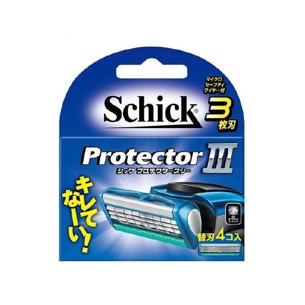 Lưỡi dao cạo râu Schick Protector III 3 lưỡi ( Hộp 4 )