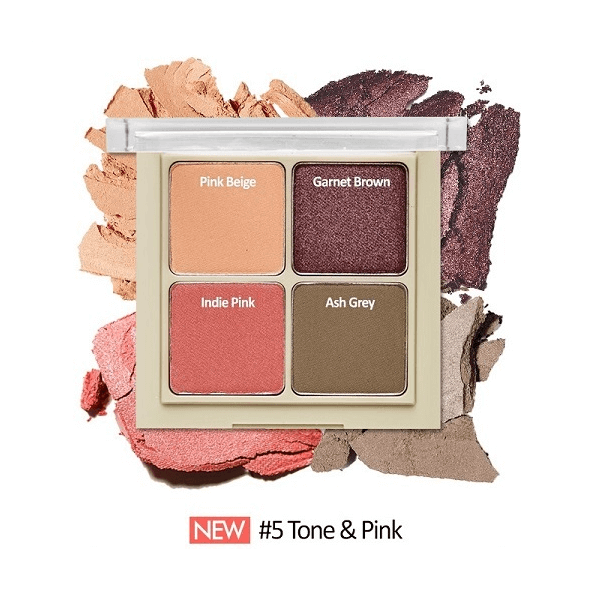 bang phan mat 4 o etude house blend for eyes 8g 5 tone pink 600x600 - Bảng phấn mắt 4 ô Etude House Blend For Eyes 8g