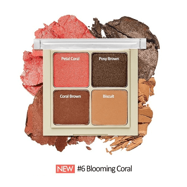 bang phan mat 4 o etude house blend for eyes 8g 6 blooming coral 600x600 - Bảng phấn mắt 4 ô Etude House Blend For Eyes 8g