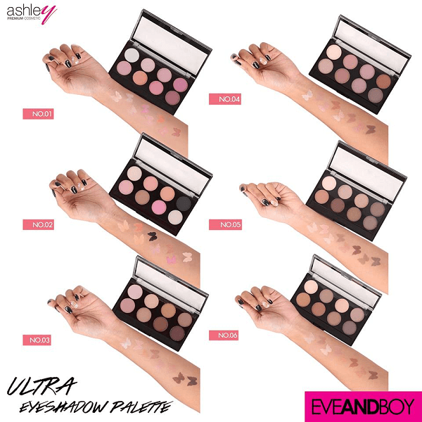 bang phan mat 8 mau ashley ultra eyeshadows 2 600x600 - Bảng phấn mắt 8 màu Ashley Ultra Eyeshadows