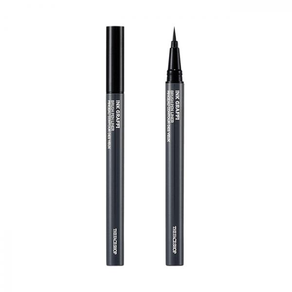 but da ke mat the face shop ink graffi brush pen liner 0 6g 600x600 - Bút dạ kẻ mắt The Face Shop Ink Graffi Brush Pen Liner 0.6g