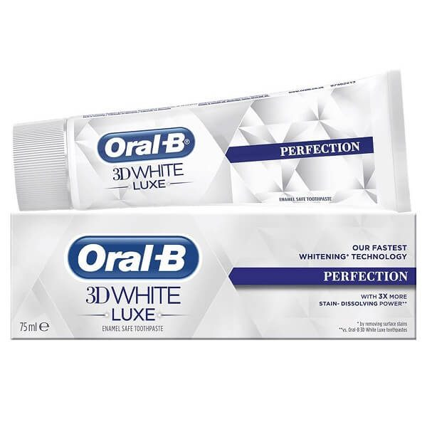 kem danh rang oral b 3d white luxe perfection 75ml 600x600 - Kem đánh răng Oral-B 3D White Luxe Perfection 75ml