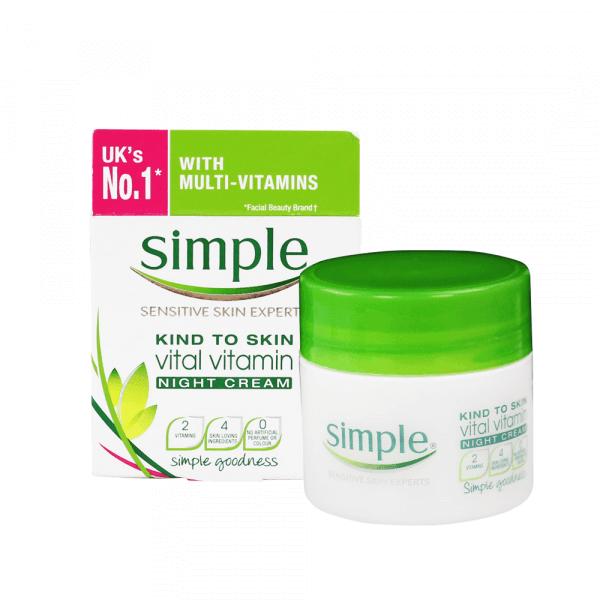 kem duong am ban dem simple kind to skin vital vitamin night cream 50ml 600x600 - Kem dưỡng ẩm ban đêm Simple Kind To Skin Vital Vitamin Night Cream 50ml
