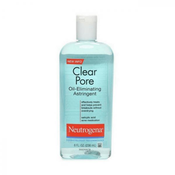 nuoc hoa hong danh cho da dau mun neutrogena clear pore oil eliminating astringent 236ml 600x600 - Nước hoa hồng da dầu mụn Neutrogena Clear Pore Oil Eliminating Astringent Toner 236ml