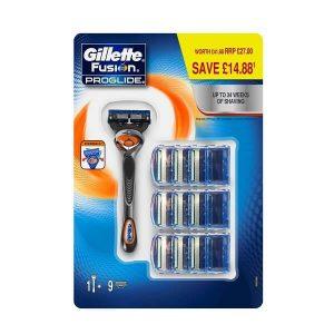 Set dao cạo râu 5 lưỡi Gillette Fusion 5 ProGlide - 1 cán 10 lưỡi