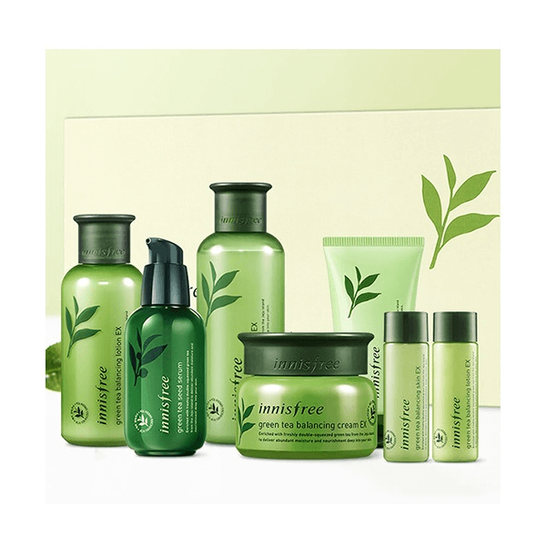 set duong da innisfree green tea skin care best set 7 mon 600x600 - Set dưỡng da Innisfree Green Tea Skin Care Best Set 7 món