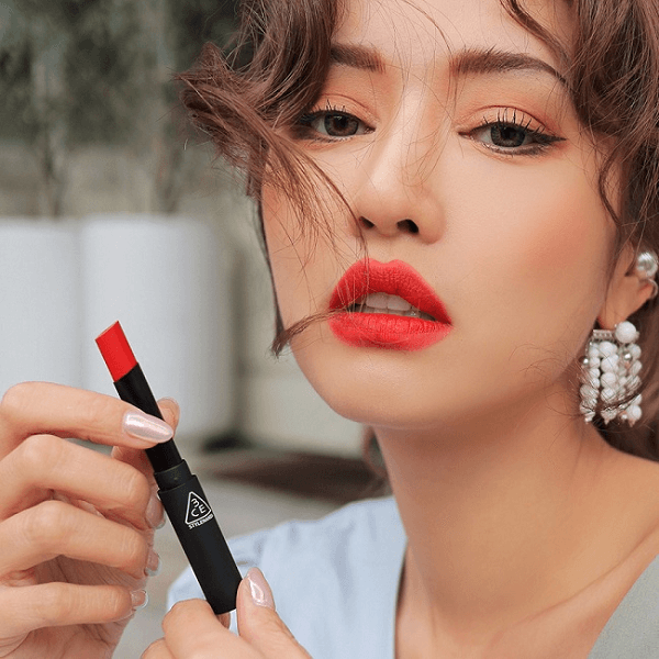 son 3ce slim velvet lip color pale red do tuoi 3 600x600 - Son 3CE Slim Velvet Lip Color Pale Red ( Đỏ Cam Pha Hồng )