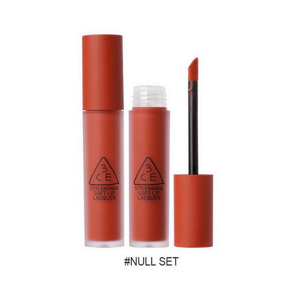 son kem li 3ce soft lip lacquer null set do gach 600x600 - Son kem lì 3CE Soft Lip Lacquer Null Set ( Đỏ Gạch )
