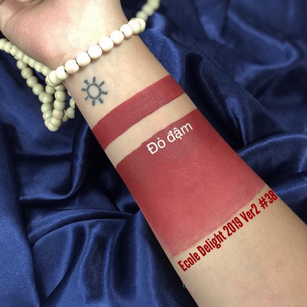 son thoi li ecole delight lipstick ver2 2019 mau 38 do dam 600x600 - Son Ecole Delight Lipstick 3.5g Ver2 2019