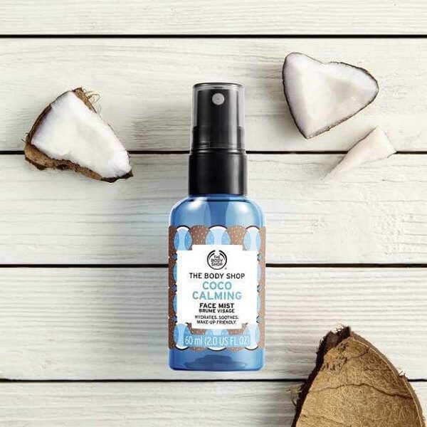 xit khoang the body shop coco calming face mist 60ml 3 600x600 - Xịt khoáng The Body Shop Coco Calming Face Mist 60ml