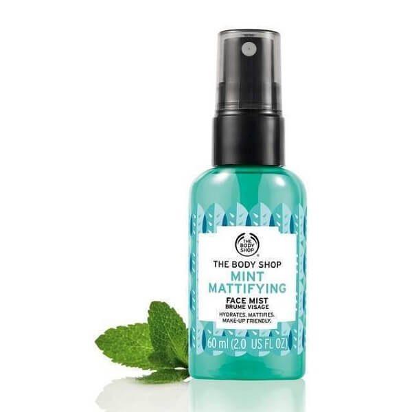xit khoang the body shop mint mattifying face mist 60ml 2 600x600 - Xịt khoáng The Body Shop Mint Mattifying Face Mist 60ml