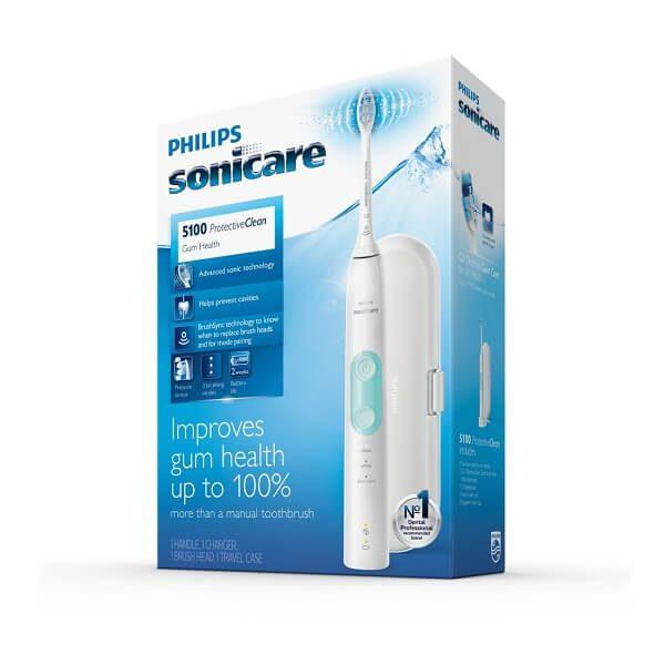 Bàn chải đánh răng điện Philips Sonicare ProtectiveClean 5100 White Mint